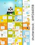 vector photo book with cartoon... | Shutterstock .eps vector #649266058