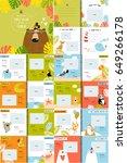 vector photo book with cartoon... | Shutterstock .eps vector #649266178