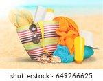 beach. | Shutterstock . vector #649266625