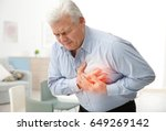 heart attack concept. senior... | Shutterstock . vector #649269142