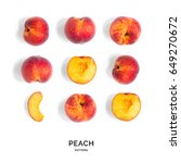 Seamless pattern with peach....