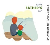 vector illustration od dad and... | Shutterstock .eps vector #649285516