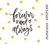 trendy hand lettering poster.... | Shutterstock .eps vector #649291306