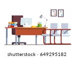 modern minimalist boss office... | Shutterstock .eps vector #649295182