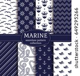 set of marine and nautical... | Shutterstock .eps vector #649295266