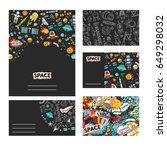 cards vector template... | Shutterstock .eps vector #649298032