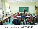 happy children group  in school ... | Shutterstock . vector #64930630