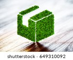 green sustainable shipping... | Shutterstock . vector #649310092