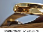 macro detail of a golden...   Shutterstock . vector #649310878