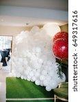 magic baloons decor for wedding ...   Shutterstock . vector #649317616