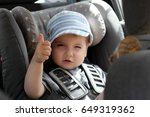 portrait of cute cool toddler... | Shutterstock . vector #649319362