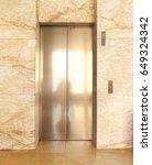 modern elevator in a commercial ... | Shutterstock . vector #649324342