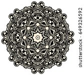 mandala  circle decorative...   Shutterstock .eps vector #649326592
