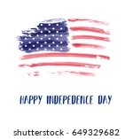 usa independence day background.... | Shutterstock .eps vector #649329682