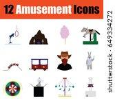 flat design amusement park icon ...