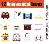 flat design amusement park icon ...
