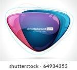 abstract glossy speech bubble...   Shutterstock .eps vector #64934353