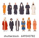 set of religion people.... | Shutterstock .eps vector #649343782