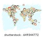 illustration of stickman kids... | Shutterstock .eps vector #649344772