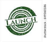 green launch rubber grunge seal   Shutterstock .eps vector #649360186