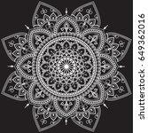 ethnic mandala ornament.... | Shutterstock .eps vector #649362016