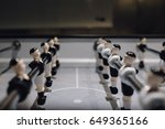 table football game with black... | Shutterstock . vector #649365166