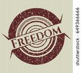 red freedom grunge seal   Shutterstock .eps vector #649366666