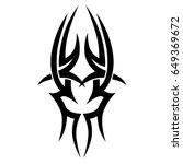 tribal tattoo art designs.... | Shutterstock .eps vector #649369672