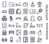 room icons set. set of 36 room... | Shutterstock .eps vector #649370782