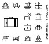 baggage icon. set of 13 outline ... | Shutterstock .eps vector #649370896