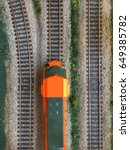 a scale locomotive seen from... | Shutterstock . vector #649385782