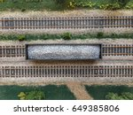 a loaded gondola car seen from...   Shutterstock . vector #649385806
