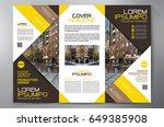 business brochure. flyer design.... | Shutterstock .eps vector #649385908