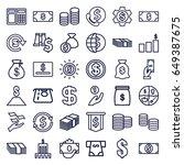 dollar icons set. set of 36... | Shutterstock .eps vector #649387675