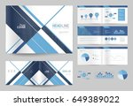 business brochure design...   Shutterstock .eps vector #649389022