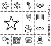 grunge icon. set of 13 outline...   Shutterstock .eps vector #649391542