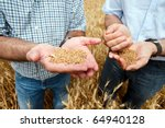 Two Farmers With A Grain Of...