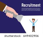 recruitment concept. human... | Shutterstock .eps vector #649402906