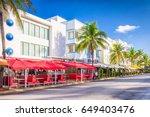 miami beach  florida  usa on... | Shutterstock . vector #649403476