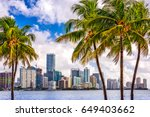 miami  florida  usa tropical... | Shutterstock . vector #649403662