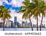 miami  florida  usa tropical... | Shutterstock . vector #649403662