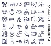 group icons set. set of 36... | Shutterstock .eps vector #649404406