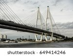 cable stayed bridge and neva... | Shutterstock . vector #649414246