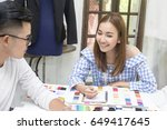 young team asian designer... | Shutterstock . vector #649417645
