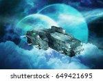 original 3d illustration. space ... | Shutterstock . vector #649421695