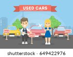used cars store. | Shutterstock .eps vector #649422976