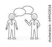 business meeting illustration. | Shutterstock .eps vector #649423018