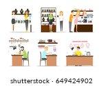 jewelry store interior set. | Shutterstock .eps vector #649424902