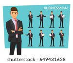 businessman set   vector... | Shutterstock .eps vector #649431628