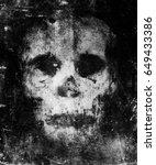 scary skull isolated on black... | Shutterstock . vector #649433386